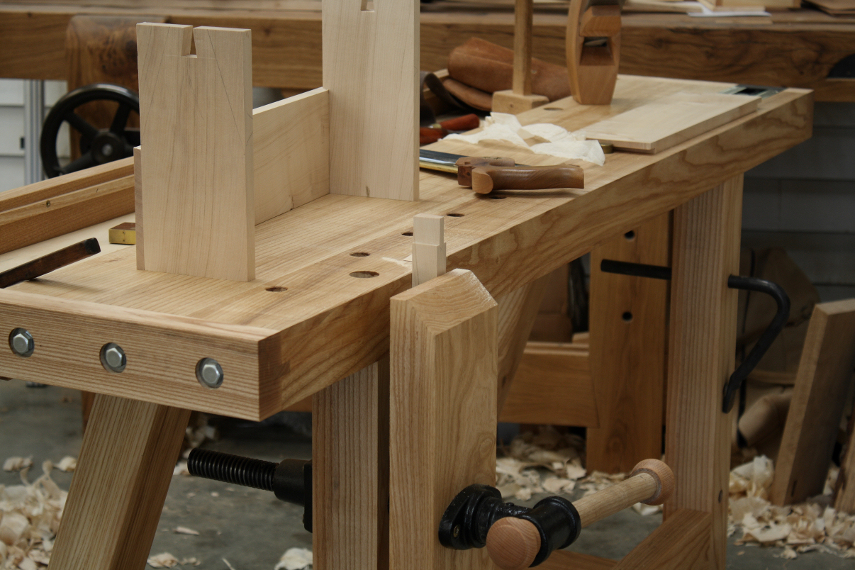 Traditional workbench in use