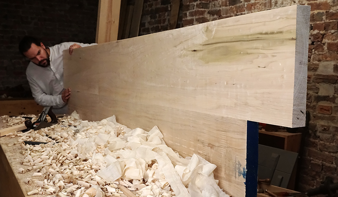 Edge Jointing Long Boards For a Table Top