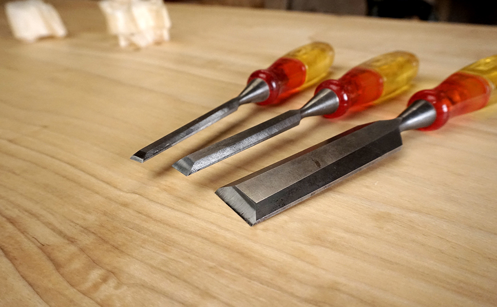 Three chisels that are always on my bench. My Marple's Splitproofs.
