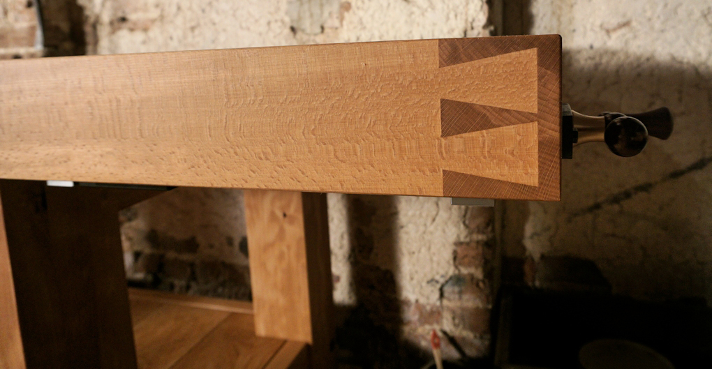 A rather large workbench, which I had to laminate up from steamed beech.