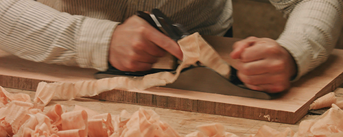 flattening a table top by hand