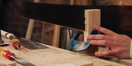 cutting bridle joints by hand