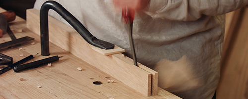 how to cut bridle joints by hand