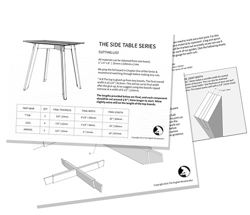 pdf plans side table
