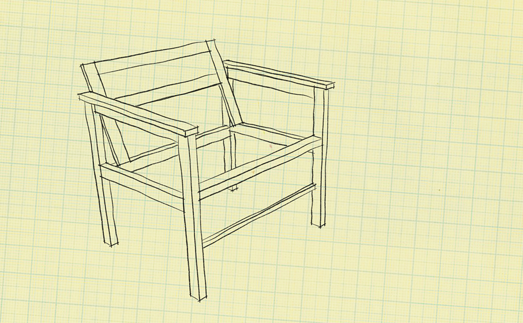 Chair design for hand tool build